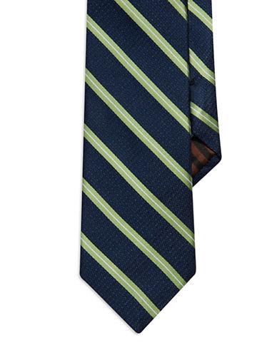 BLACK BROWN 1826Striped Silk Tie