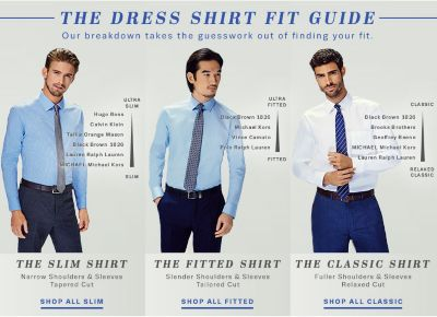 Dress Shirts: Classic Fit, Fitted & Slim Fit | Lord & Taylor