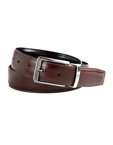 PERRY ELLIS Two-Sided Leather Belt