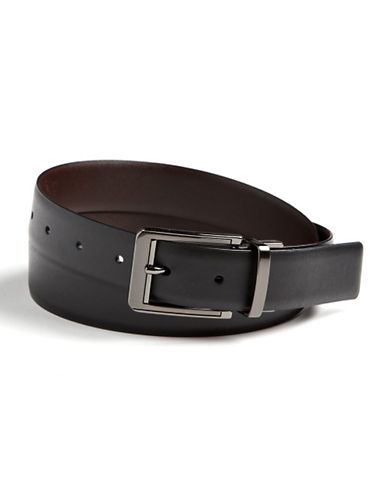 Perry Ellis Reversible Double-Stitch Leather Belt