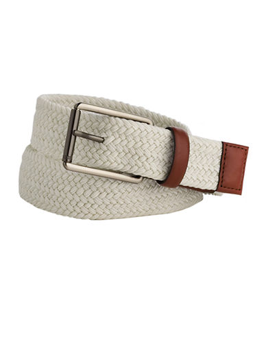 Braided Cloth and Leather Belt