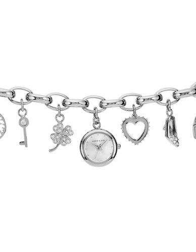 ANNE KLEINLadies Silver Tone Charm Watch