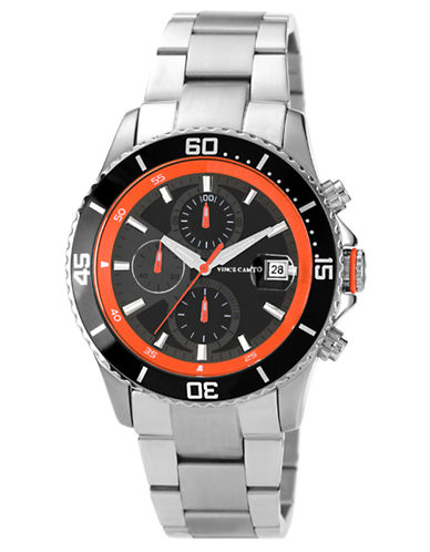 VINCE CAMUTOMens Silver-Tone Chronograph Watch