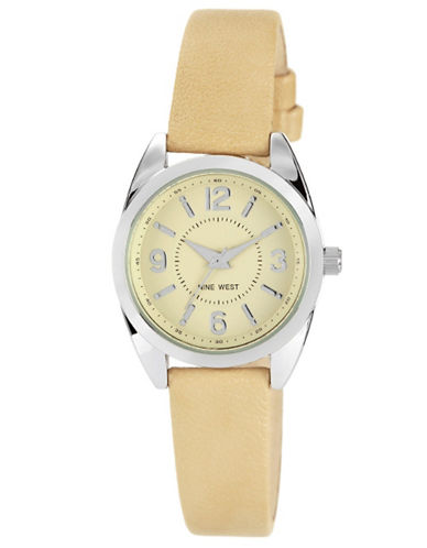 Women's Round Silver-Tone & Natural Quartz Watch