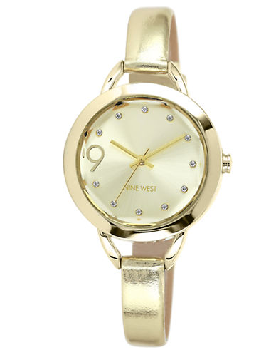 NINE WEST Ladies' Gold-Tone Watch with Metallic Strap