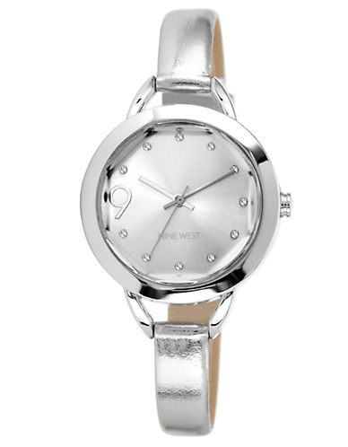 NINE WEST Ladies' Silver-Tone Watch with Metallic Strap