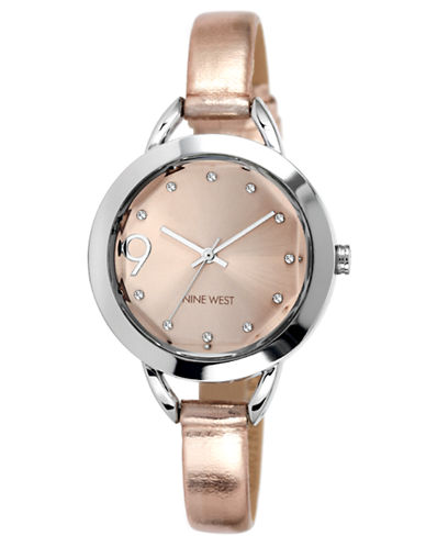 NINE WEST Ladies' Two-Tone Watch with Metallic Strap