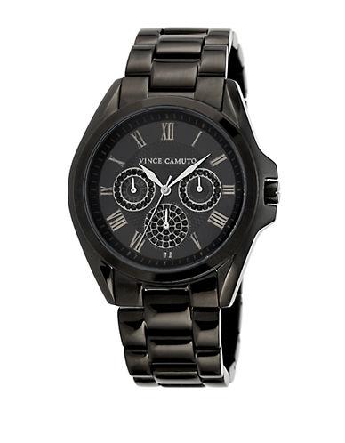 VINCE CAMUTOLadies Black Stainless Steel and Black Crystal Bracelet Watch