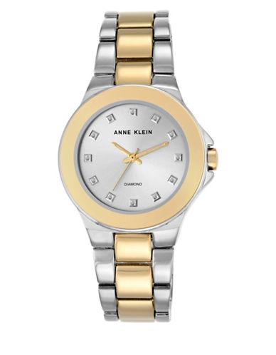 AK/2755SVTT Analog Two-Tone Link Bracelet Watch