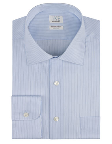IKE BY IKE BEHAR Regular Fit Stripe Dress Shirt