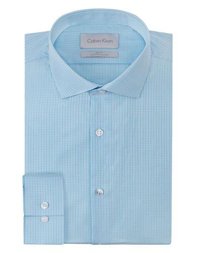 CALVIN KLEINSlim Fit Micro Plaid Dress Shirt
