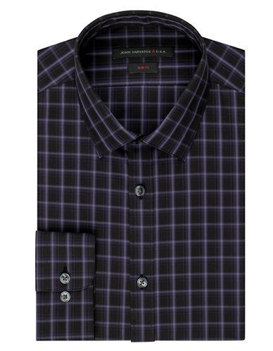 JOHN VARVATOS U.S.A.Slim Fit Grid Plaid Dress Shirt