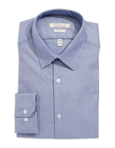 PERRY ELLIS Classic-Fit Micro Check Dress Shirt