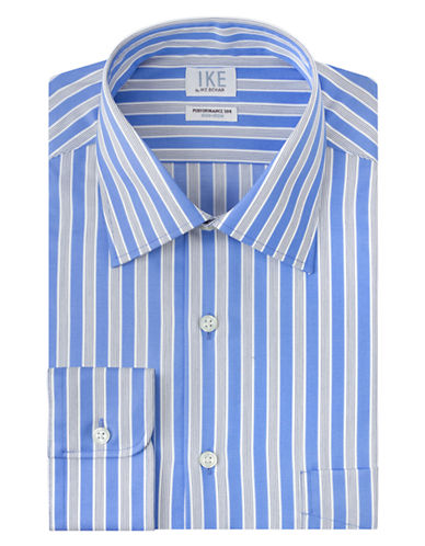 IKE BY IKE BEHAR Classic Fit Fancy Stripe Dress Shirt