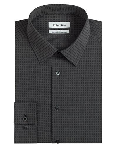 CALVIN KLEINSlim Fit Line Check Dress Shirt