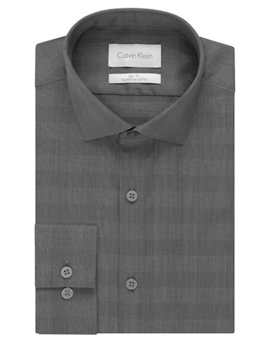 CALVIN KLEIN Slim Fit Tonal Check Dress Shirt