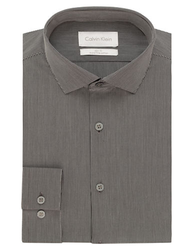 CALVIN KLEINSlim Fit Micro Stripe Dress Shirt