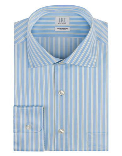 IKE BY IKE BEHAR Regular Fit Track Stripe Dress Shirt
