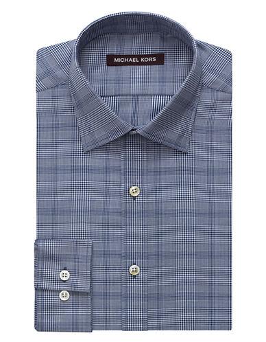 MICHAEL KORSRegular Fit Fancy Plaid Dress Shirt