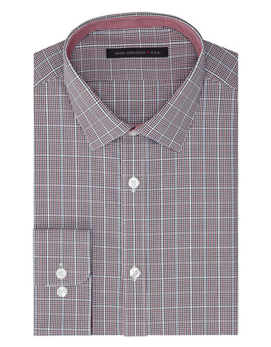 JOHN VARVATOS U.S.A. Slim Fit Z Cotton Fancy Check Dress Shirt