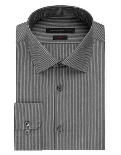 JOHN VARVATOS U.S.A.Slim Fit Vintage Dobby Stripe Dress Shirt