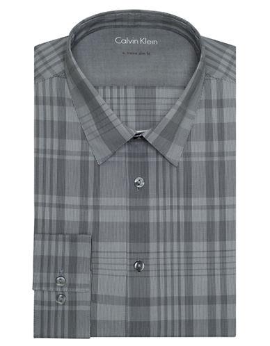 CALVIN KLEINExtreme Slim Fit Plaid Dress Shirt