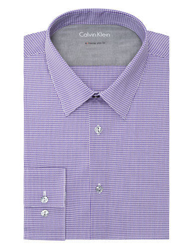 CALVIN KLEINExtreme Slim Fit Micro Check Dress Shirt