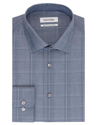 CALVIN KLEINRegular Fit Plaid Dress Shirt