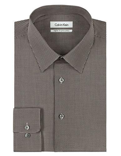 CALVIN KLEINRegular Fit Micro Check Dress Shirt