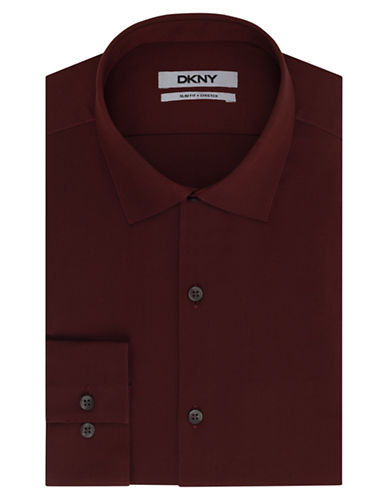 DKNYSlim Fit Natural Stretch Dress Shirt