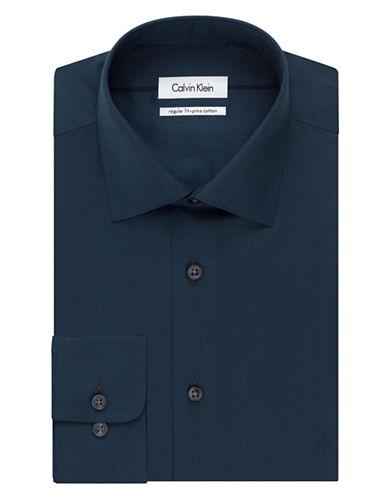 CALVIN KLEINRegular Fit Pima Micro Check Dress Shirt