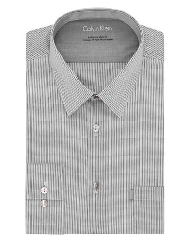 CALVIN KLEIN Slim Fit Grid Dress Shirt