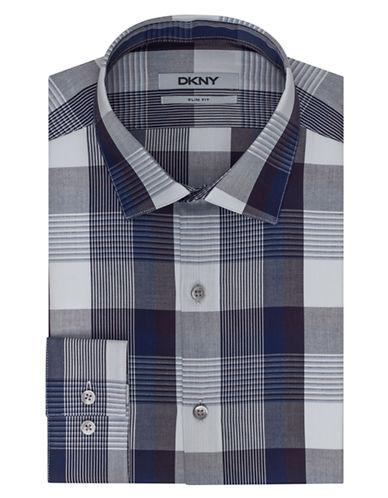 DKNYSlim Fit Plaid Dress Shirt