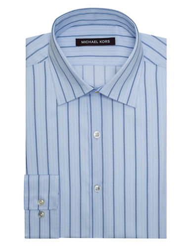 MICHAEL KORS Classic Fit Fancy Stripe Dress Shirt