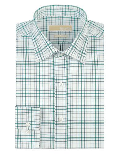 MICHAEL MICHAEL KORSRegular Fit Plaid Non Iron Dress Shirt