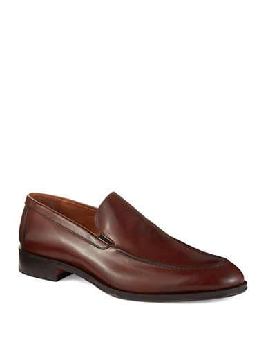 BLACK BROWN 1826Slip-On Leather Loafers