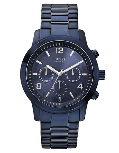 GUESS Mens Navy Bold Contemporary Chronograph Watch