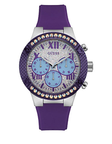 Showstopper Stainless Steel Resin Strap Analog Watch
