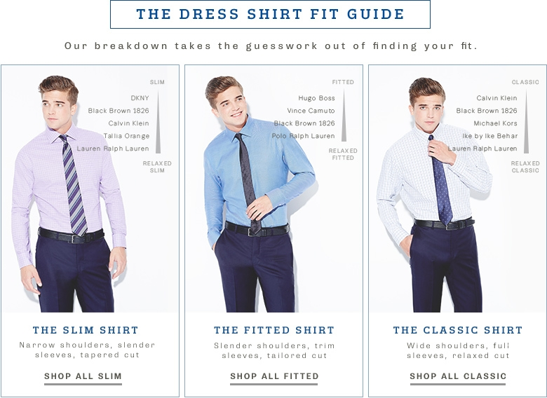 Mens dress shirt sizes pictures