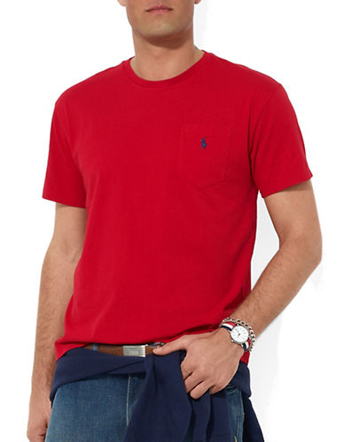 POLO RALPH LAUREN Short-Sleeved Pocket Crewneck T-Shirt