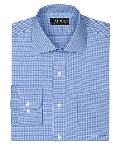 LAUREN RALPH LAURENSlim Fit Micro Check Pocket Cotton Dress Shirt