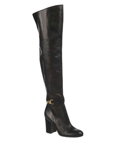 SAM EDELMAN Fae Leather Side-Zip Ankle Boots