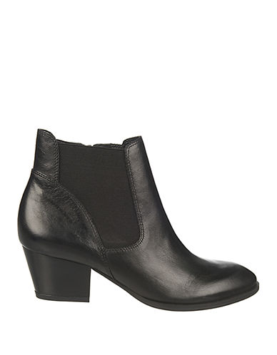 FRANCO SARTO Gypsum Leather Ankle Boots