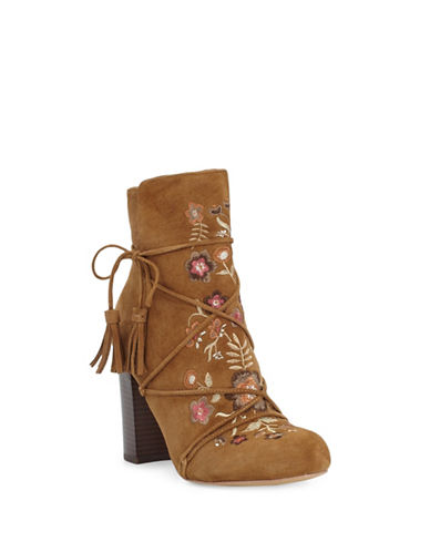 Buy Winnie Tassel Leather Booties by Sam Edelman online