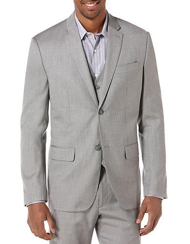 PERRY ELLISHerringbone Textured Suit Jacket