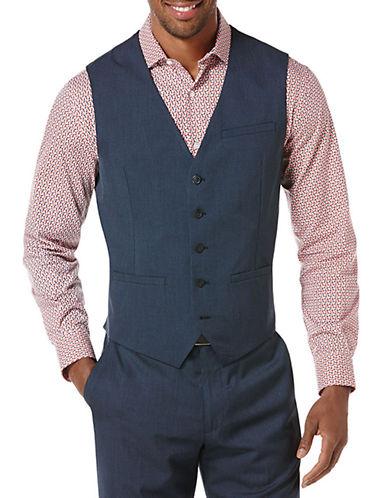 PERRY ELLISClassic Fit Textured Suit Vest