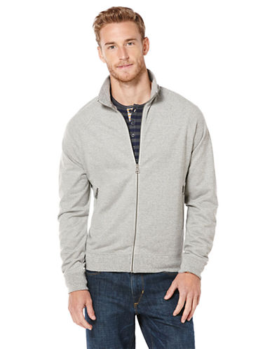 PERRY ELLIS Knit Mockneck Jacket