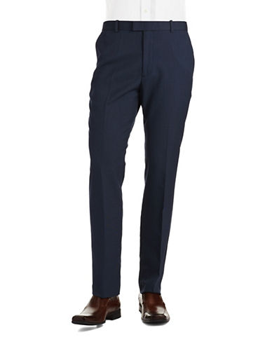PERRY ELLIS Classic Fit Flat Front Dress Pants