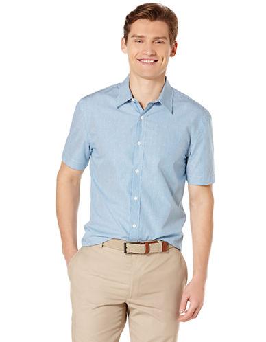 PERRY ELLISDotted Pinstripe Sport Shirt