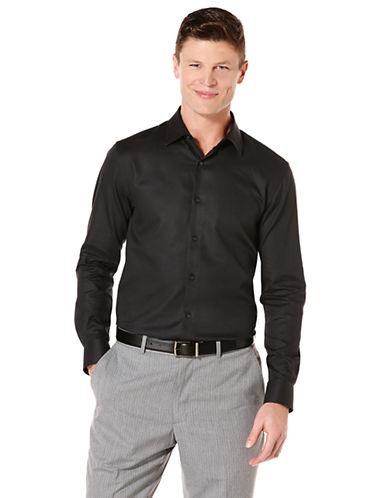 PERRY ELLISTextured Collar Sport Shirt